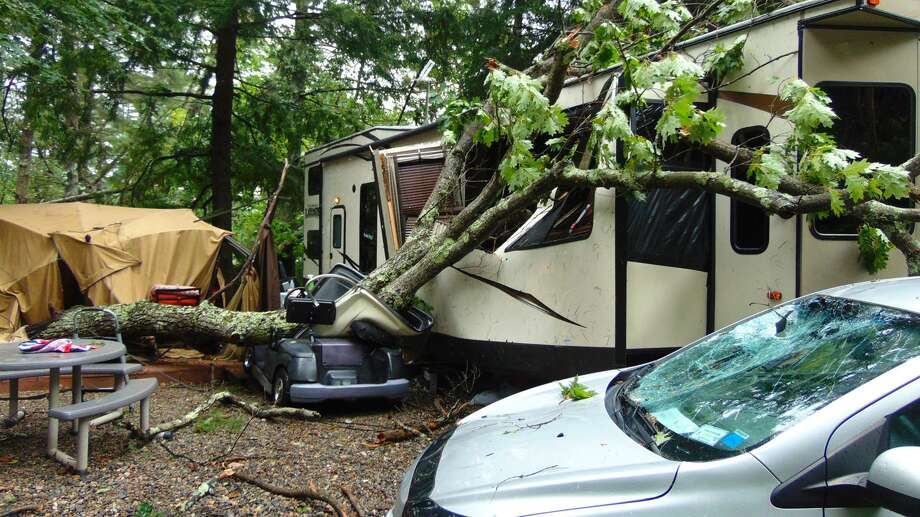 The aftermath of a Saturday, Aug. 13, 2016 storm at the Pine Lake area near Caroga Lake, Fulton County. (Photo: Caroga Lake Volunteer Fire Company).