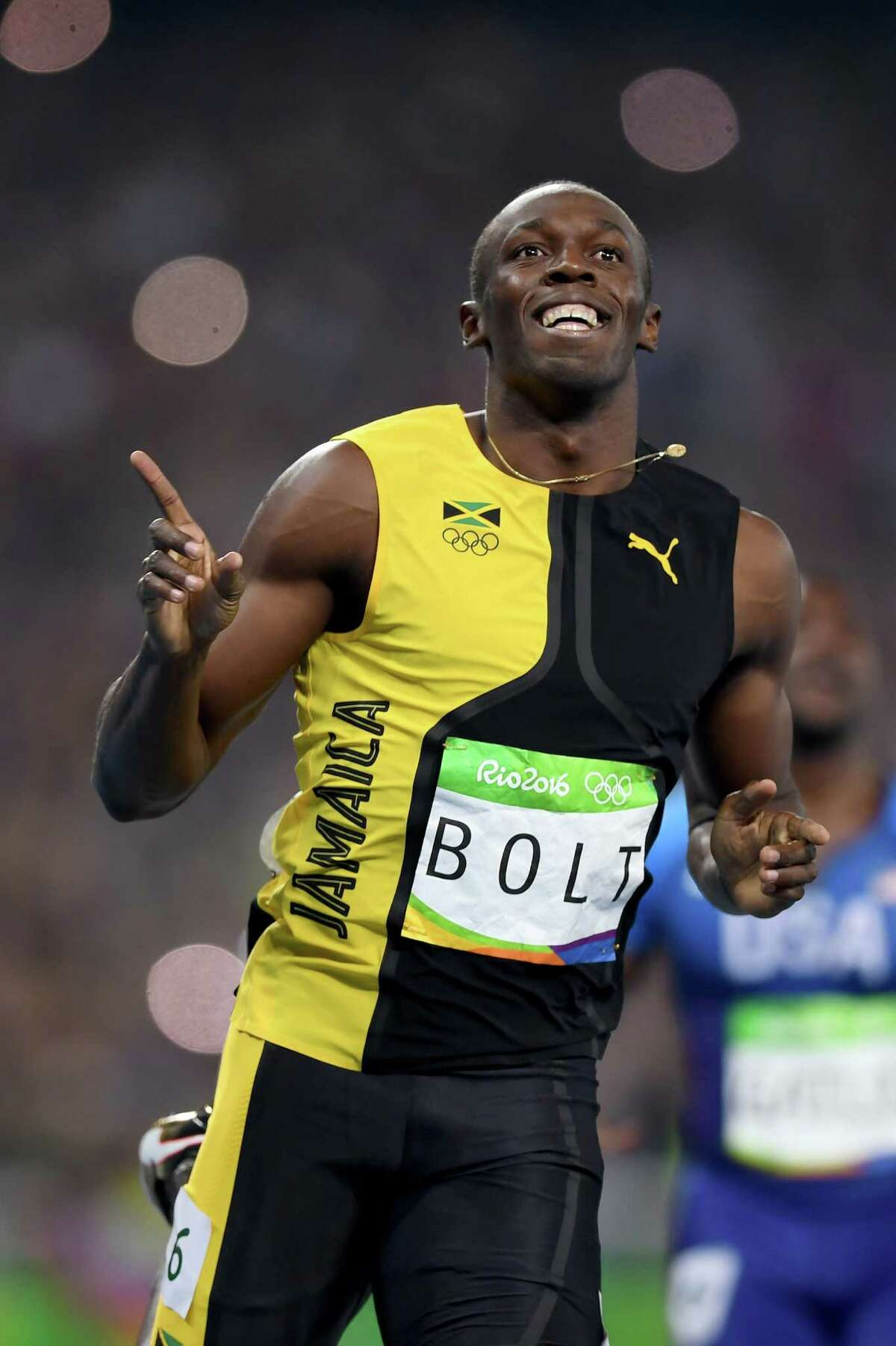 Usain Bolt's gold-medal time of 9.81 seconds was well off his world-record clocking of 9.58 seconds set in 2009.