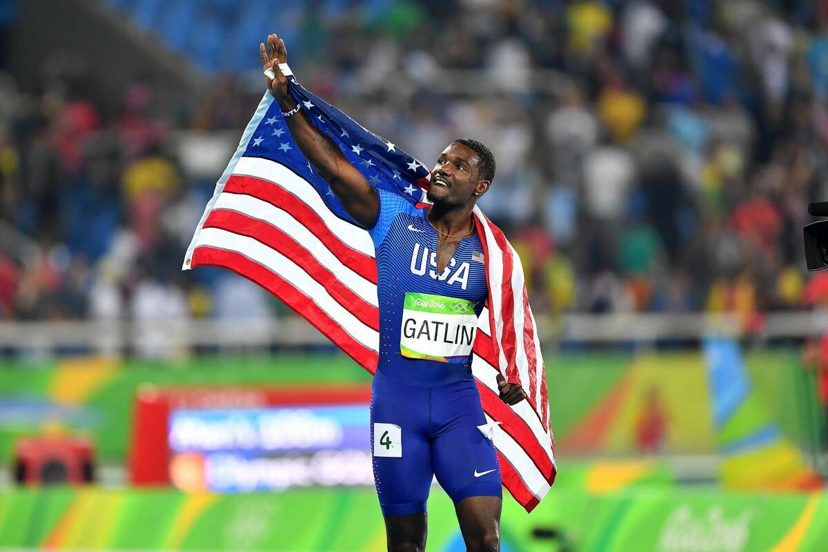 Justin Gatlin won silver in the men's 100-meter Sunday, August 14, 2016.