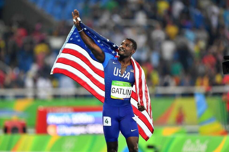 Justin Gatlin won silver in the men's 100-meter Sunday, August 14, 2016.