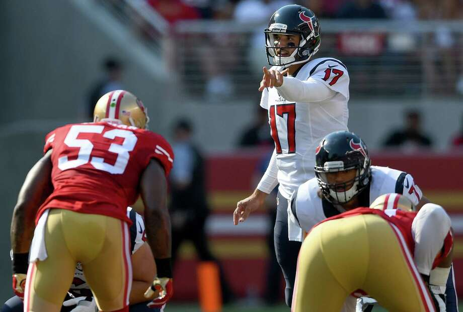 QuarterbacksBrock Osweiler (4-of-7 for 27 yards) had a rough debut, but it was a vanilla scheme and only four series. Tom Savage (14-of-24 for 168 yards), who's playing in this system for a third season, threw two touchdown passes and led three scoring drives.Grade: C-plus Photo: Thearon W. Henderson, Getty Images / 2016 Getty Images