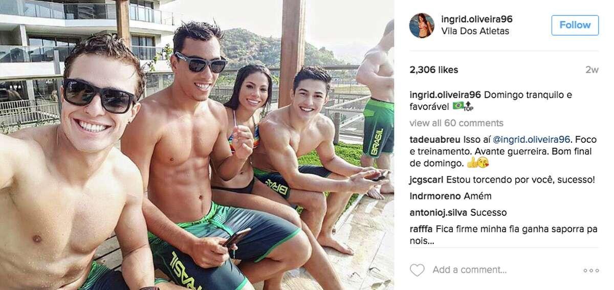 Brazilian diver Ingrid Oliveira on Instagram.