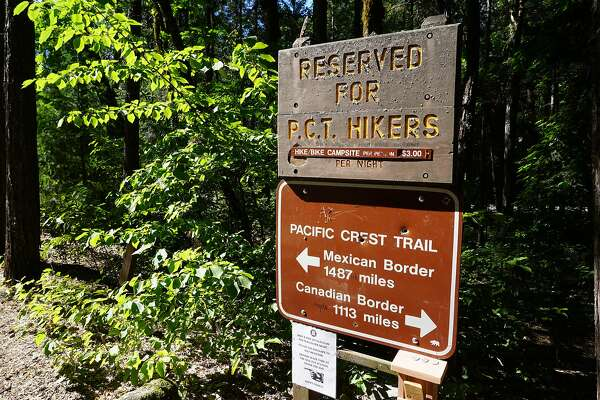 PCT hiker�s campground, Castle Crags State Park.
