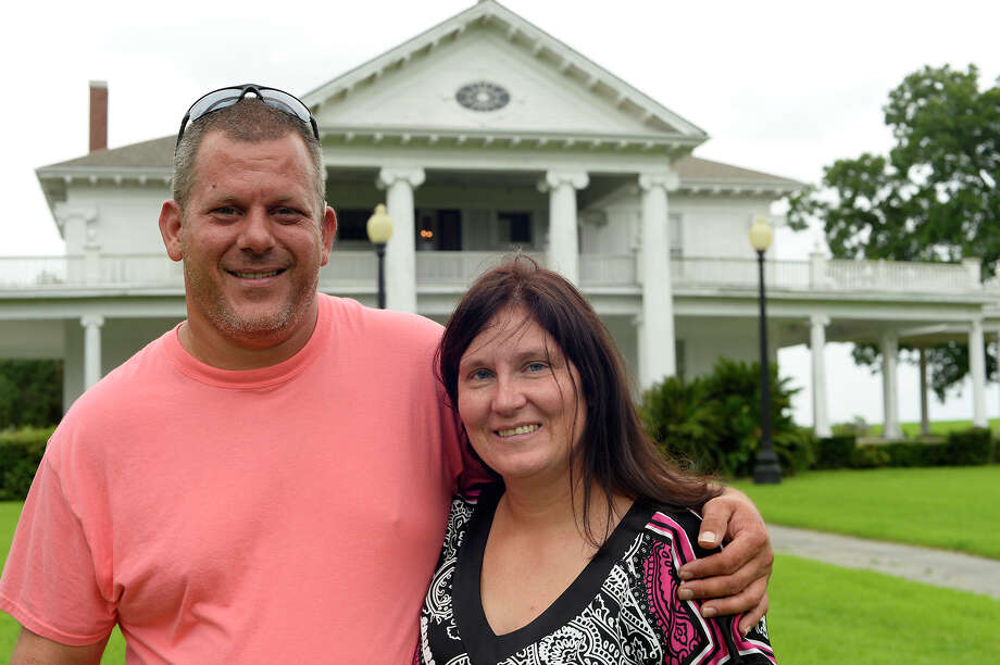Sean and April Dean were married at Rose Hill Manor in Port Arthur last Saturday. The aging home of Rome Hatch Woodworth is in need of repairs.  Photo taken Friday 8/12/16 Ryan Pelham/The Enterprise Photo: Ryan Pelham / ©2016 The Beaumont Enterprise/Ryan Pelham
