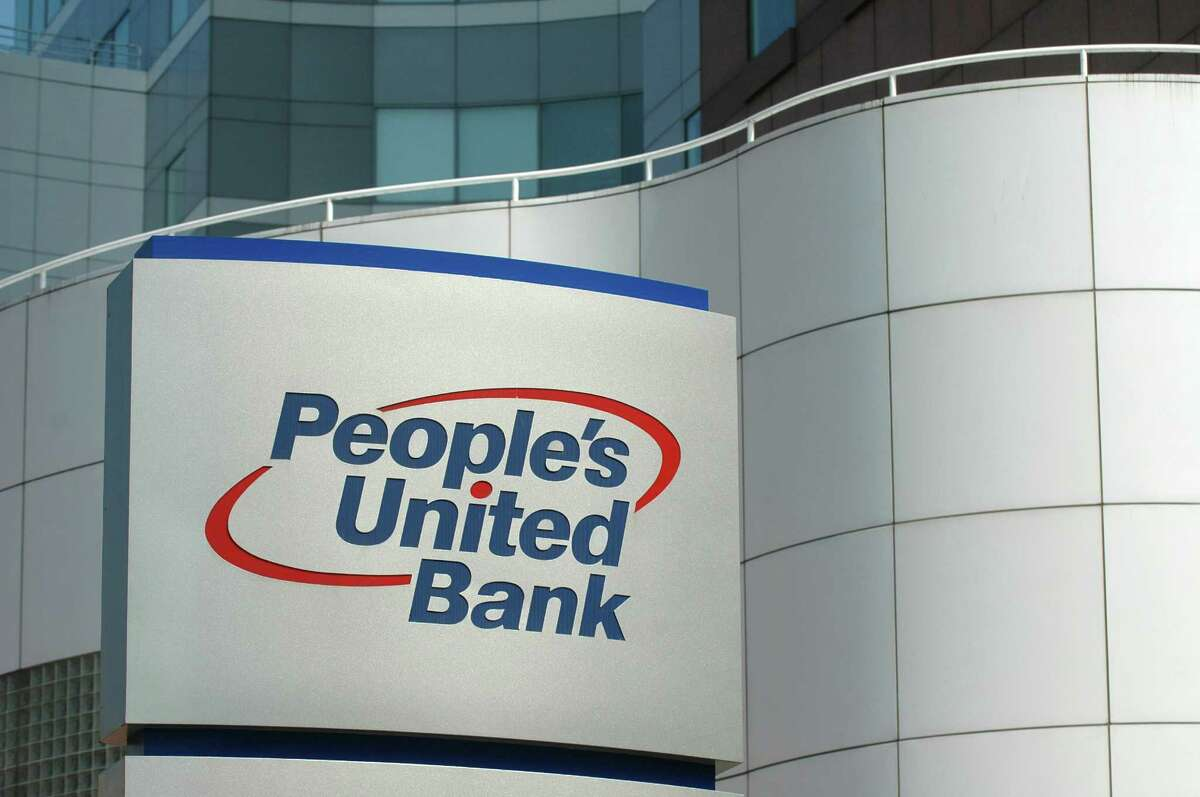 People's United Bank headquarters on Main Street in Bridgeport.