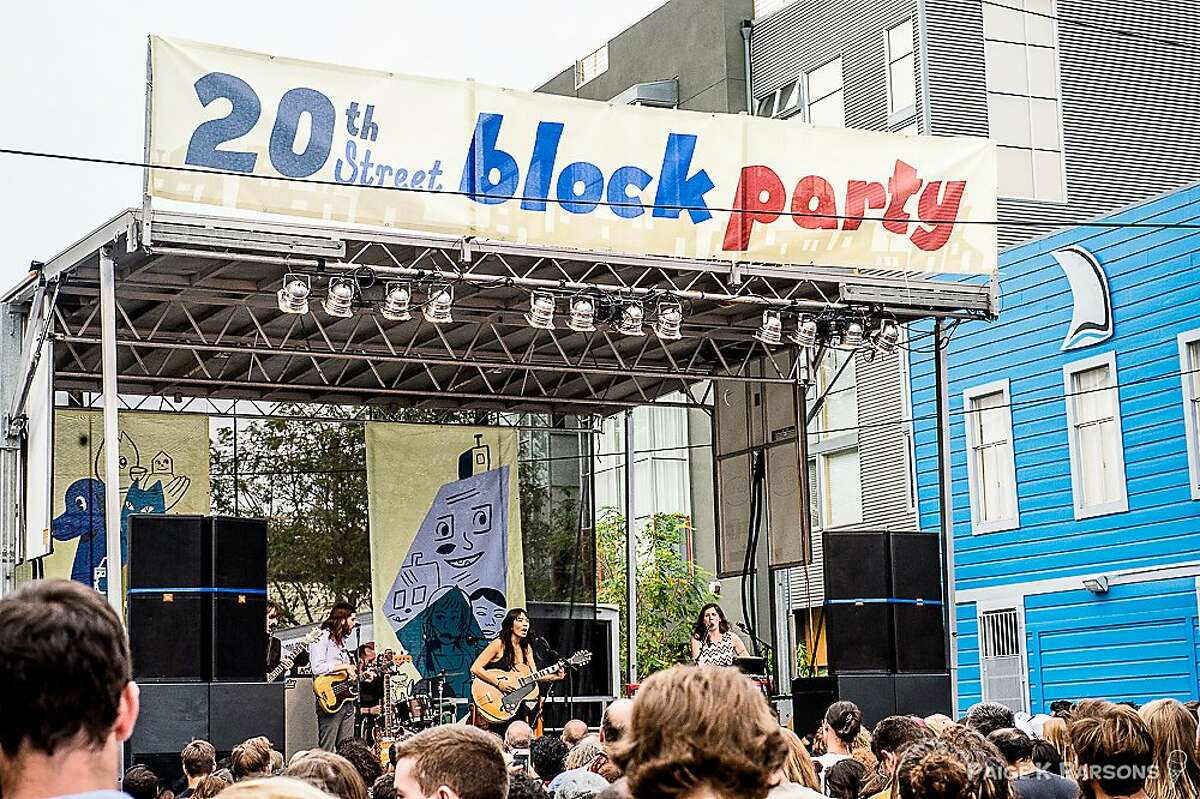 Scenes from the 20th Street Block Party.