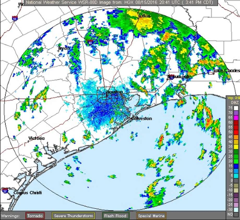 A flash flood watch has been extended in the Houston area until 7 p.m. on Tuesday. Photo: The National Weather Service Houston / Galveston