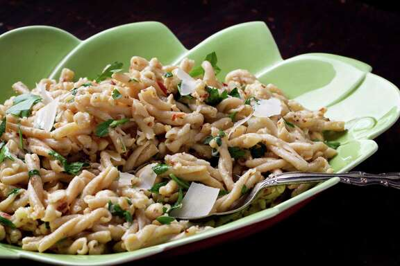 Hazelnut Pasta demonstrates the nuts' success as a main course.