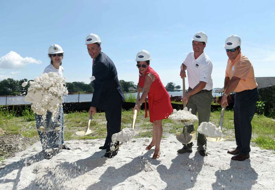 Ground Broken For New Byram Municipal Pool Connecticut Post