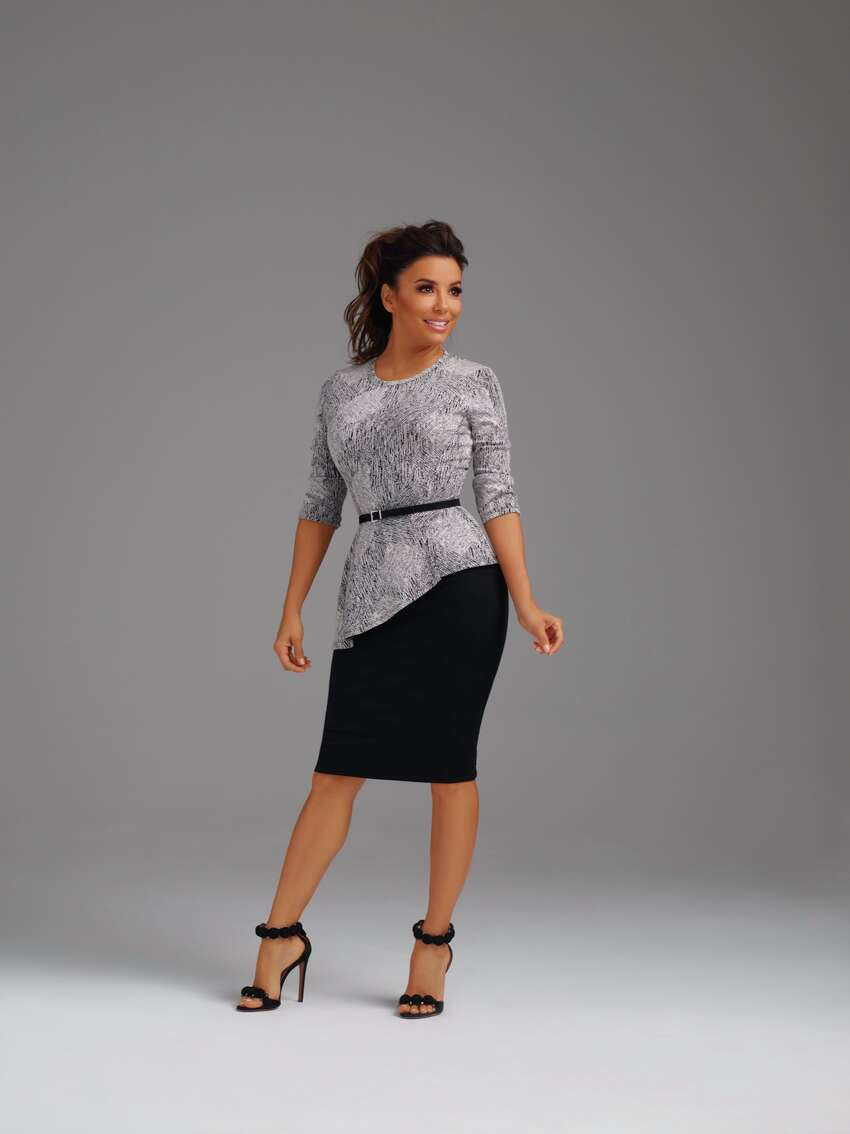 Eva Longoria modeled her clothing line found at The Limited.