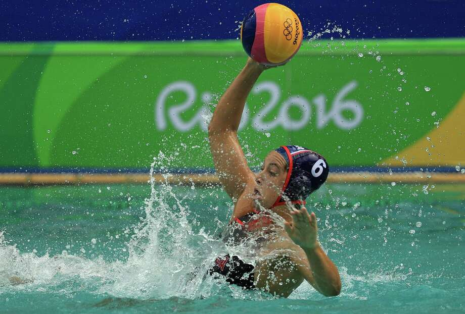 RIO DE JANEIRO, BRAZIL - AUGUST 11:  Maggie Steffens #6 of United States passes during a Womens Preliminary match against China on Day 6 of the 2016 Rio Olympics at Maria Lenk Aquatics Centre on August 11, 2016 in Rio de Janeiro, Brazil.  (Photo by Mike Ehrmann/Getty Images) Photo: Mike Ehrmann / Getty Images / 2016 Getty Images