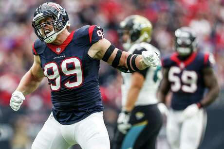 J.J. Watt has won three NFL Defensive Player of the Year Awards, which puts him in rare company when talking about the best linemen to play for the Oilers, Texans and Cowboys.