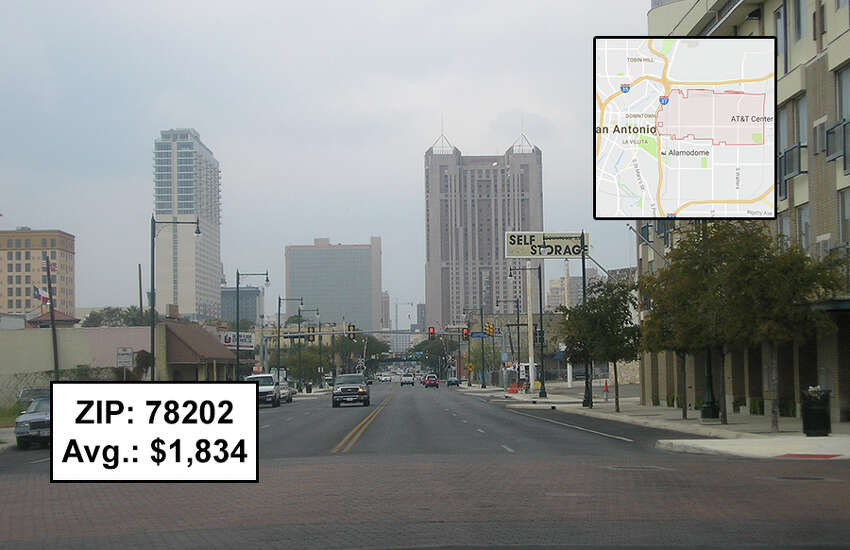 Keep clicking to view 25 San Antonio-area ZIP codes with the highest insurance rates.78202Avg. 2016 rates: $1,834