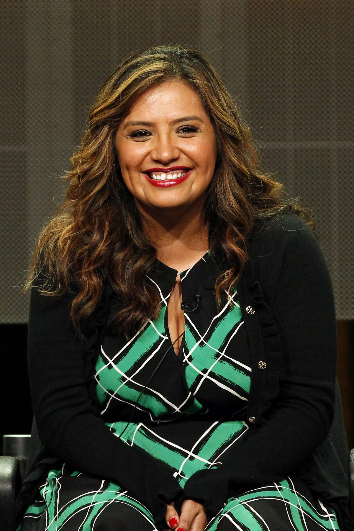 """Cristela Alonzoduring a session on her TV sitcom """"Cristela"""" in 2014. The Texan comedian will perform at the Laugh Out Loud Comedy Club in San Antonio this August."""