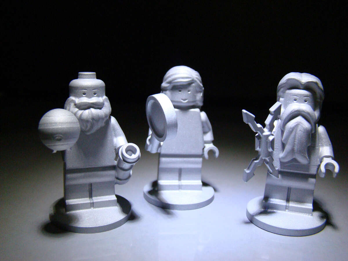 LEGO Three LEGO figurines were launched on Juno, NASA's space probe sent to orbit Jupiter. The three figurines are shaped to look like the Roman god Jupiter, his wife Juno and the famous scientist Galileo.