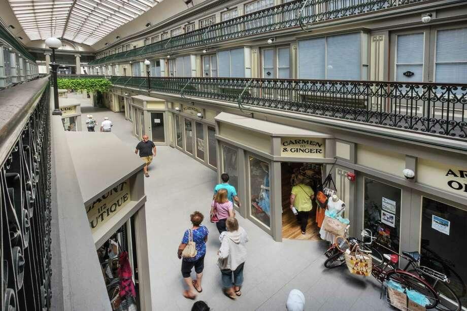 In 2012, Northeast Collaborative Architects created 48 micro lofts in the historic Arcade mall, in Rhode Island. The mall's second and third floors were transformed into housing along with 17 micro retail spaces on the main level. The $7 million adaptive reuse project respects the Arcade's historic design and the building's Old World features make each unit unique. Photo: Photo: Ben Jacobson/Contributed By Northeast Collaborative Architects / Connecticut Post