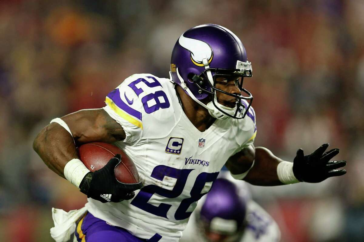 Adrian Peterson, RB, Vikings Peterson visited with the Seahawks on Sunday, but is said to be taking his time making a decision. Adrian Peterson's name may excite fans, but those fans need to realize Peterson averaged just 1.9 yards per carry last year and has played just 20 games in the past three seasons.