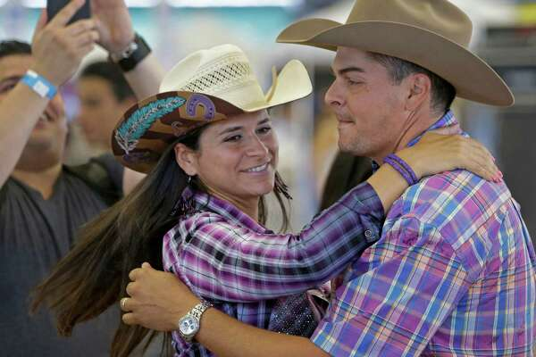 Maria Cristina Borregales and Alvaro Rodriguez dance during last year's Viva Venezuela Fest at the Great Southwest Equestrian Center, 2501 S. Mason Road. This year's event will be Sept. 3, and visitors are invited to donate items for residents facing hardship because of societal upheaval in their native land.     Maria Cristina Borregales and Alvaro Rodriguez dance during last year's Viva Venezuela Fest at the Great Southwest Equestrian Center, 2501 S. Mason Road. This year's event will be Sept. 3, and visitors are invited to donate items for residents facing hardship because of societal upheaval in their native land.