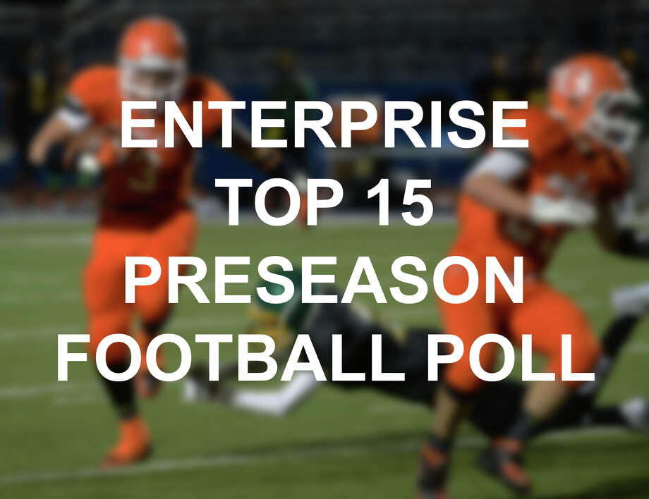 With the anticipation for football season rising, the Enterprise has put together its Top 15 poll for the Southeast Texas area. Scroll through the poll to see which high schools made the list.  Photo: Kim Brent/Kim Brent/The Enterprise