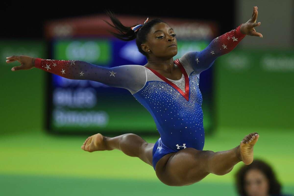 Simone Biles - Houston nativeUnited StatesIndividual all-around: Gold Team all-around: GoldFloor exercise: GoldVault: GoldBeam: Bronze