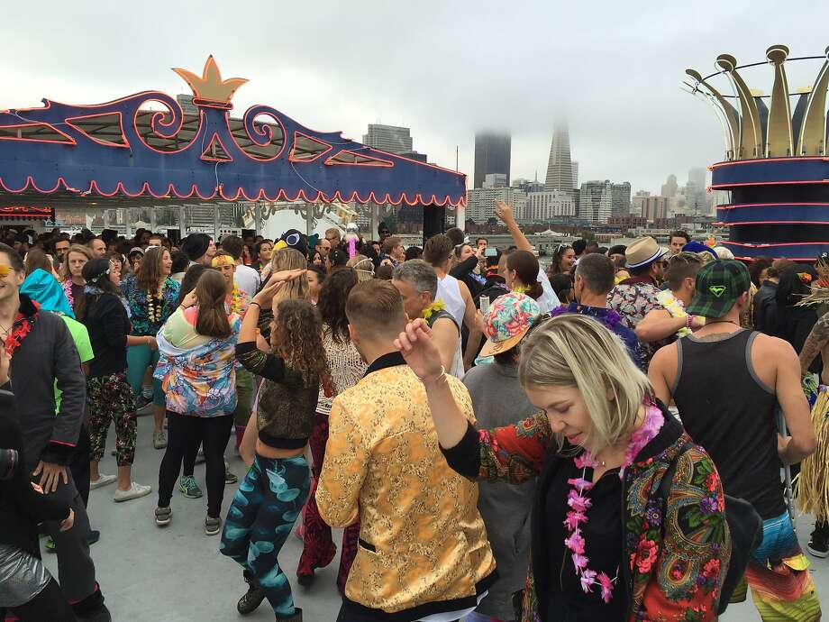 Daybreaker hosts its latest sober dawn party on a cruise ship. Photo: Beth Spotswood