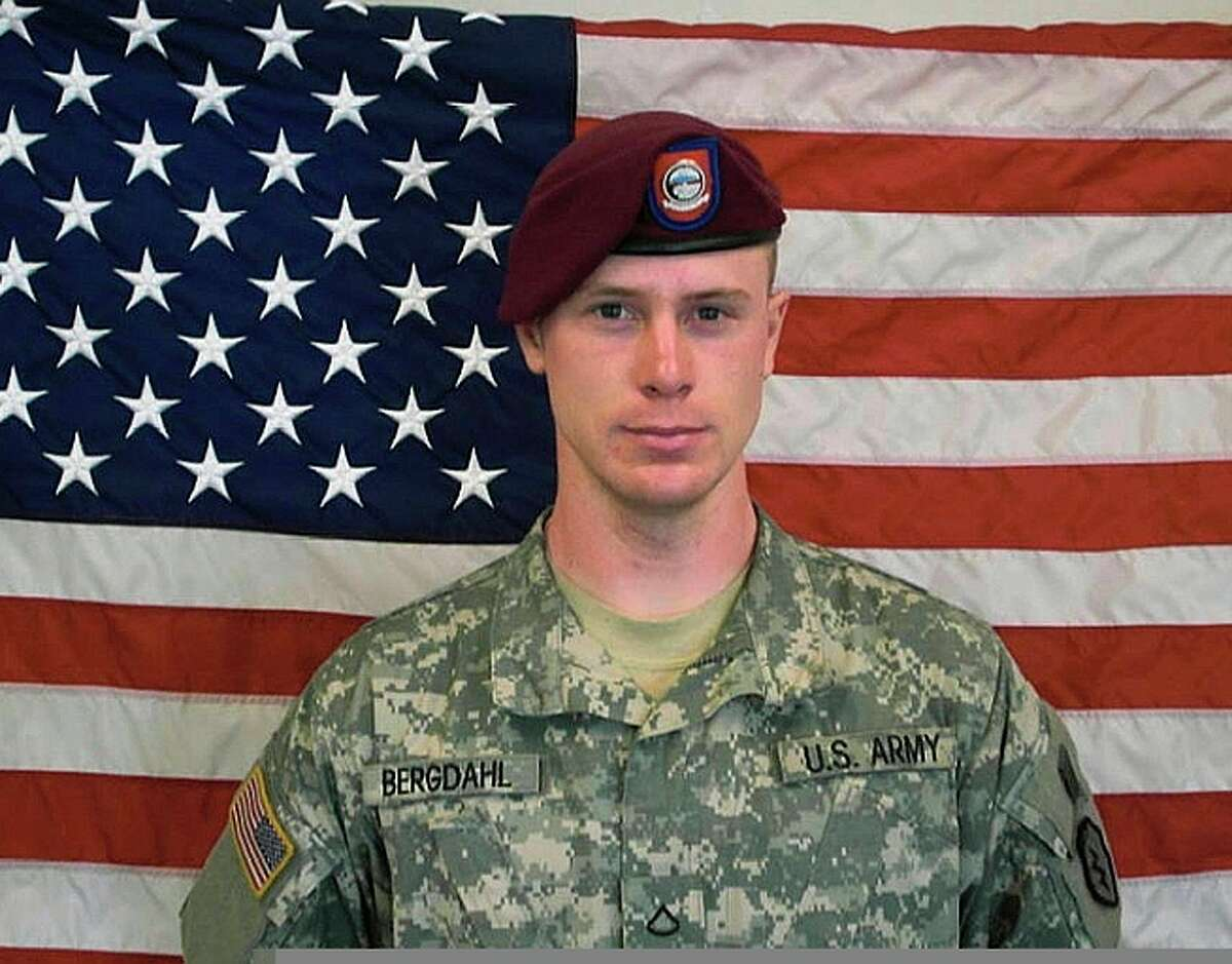 FILE - DECEMBER 14, 2015: It was reported that Sgt. Bowe Bergdahl is ordered to face a court-martial on charges of desertion December 14, 2015 UNDATED - In this undated image provided by the U.S. Army, Sgt. Bowe Bergdahl poses in front of an American flag. U.S. officials say Bergdahl, the only American soldier held prisoner in Afghanistan, was exchanged for five Taliban commanders being held at Guantanamo Bay, Cuba, according to published reports. Bergdahl is in stable condition at a Berlin hospital, according to the reports. (Photo by U.S. Army via Getty Images)