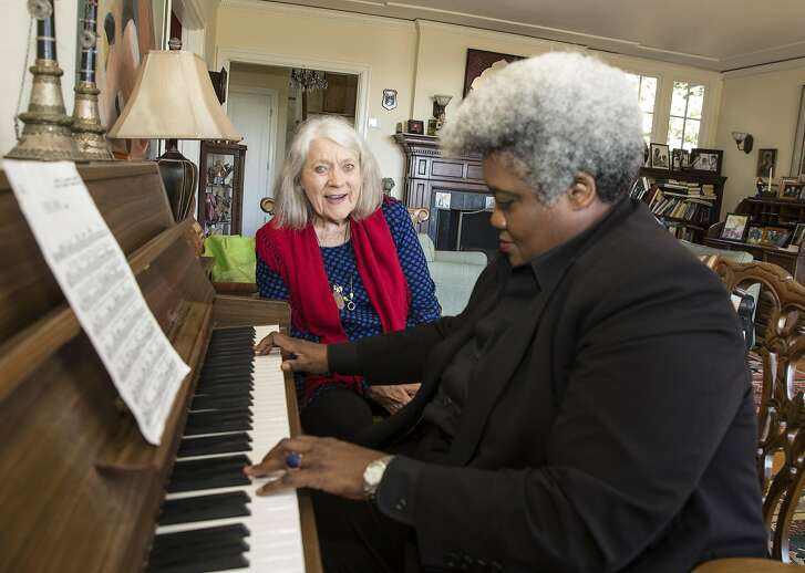 """The legendary blues, folk and early-jazz singer Barbara Dane, rehearsing here with pianist Tammy Hall, performs music from her new record, """"Throw It Away . . .,"""" her first in 14 years, at Yoshi's in Oakland on Aug. 24."""
