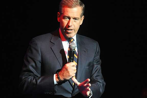 FILE - In this Nov. 5, 2014, file photo, Brian Williams speaks at the 8th Annual Stand Up For Heroes, presented by New York Comedy Festival and The Bob Woodruff Foundation in New York. Starting next month, Brian Williams will anchor a nightly newscast at 11 p.m. ET on MSNBC primarily focused on the election.  (Photo by Brad Barket/Invision/AP, File)