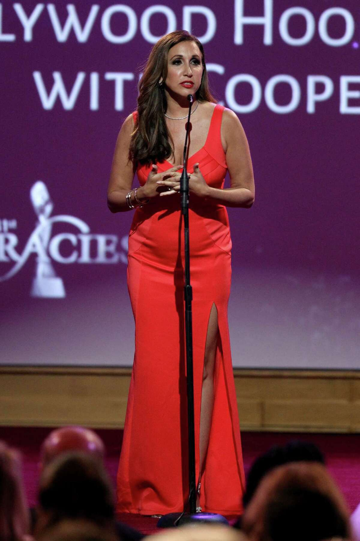 BEVERLY HILLS, CA - MAY 24: Honoree Vikki Ziegler accepts the Outstanding Podcast award onstage during the 41st Annual Gracie Awards at Regent Beverly Wilshire Hotel on May 24, 2016 in Beverly Hills, California. (Photo by Tommaso Boddi/Getty Images for Alliance for Women in Media)