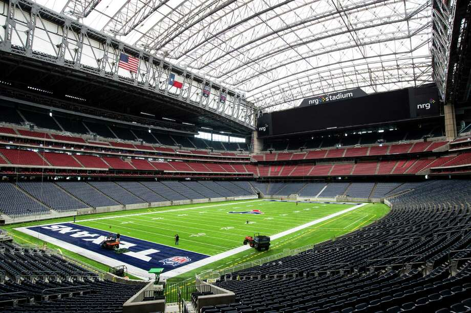The new UBU Sports artificial playing surface is installed at NRG Stadium in preparation for the upcoming season on Tuesday, Aug. 16, 2016, in Houston. Photo: Brett Coomer, Houston Chronicle / © 2016 Houston Chronicle