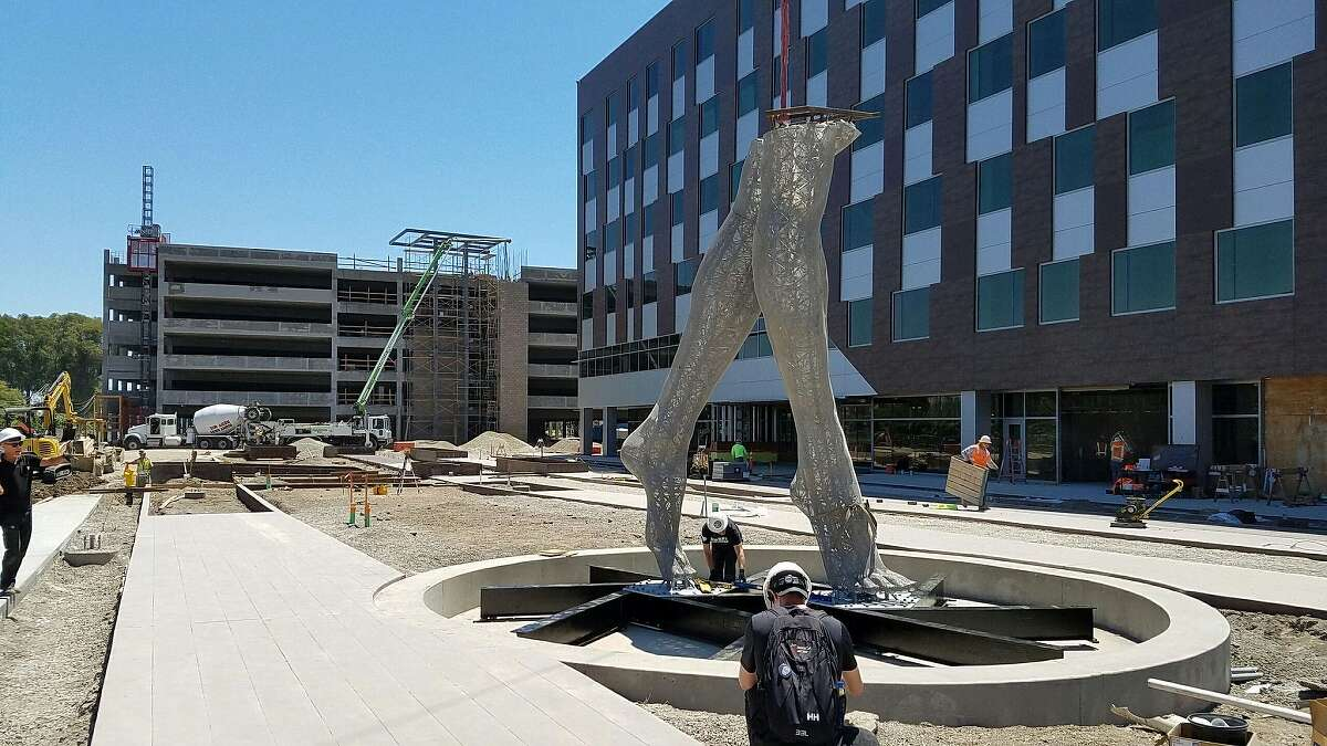 'Truth is Beauty,' a sculpture first seen at Burning Man, is installed at the new Tech Campus in San Leandro in 2016.