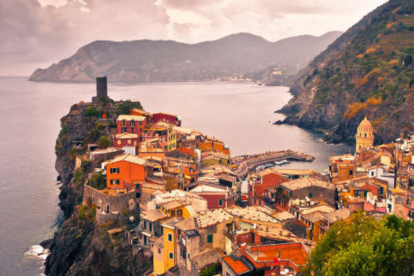 Cinque Terre, Italy   While this list is ranked in no particular order, it's safe to say that Italy is the internet's #1 honeymoon destination. Jetsetters and first-timers alike are equally enamored with Vernazza, one of the picture-perfect towns in the Cinque Terre.