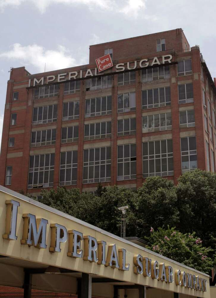 Developers James Murnane and Geoffrey Jones will develop the old  Imperial Sugar Char House into a 120-room aloft hotel.  ( J. Patric Schneider / For the Chronicle )