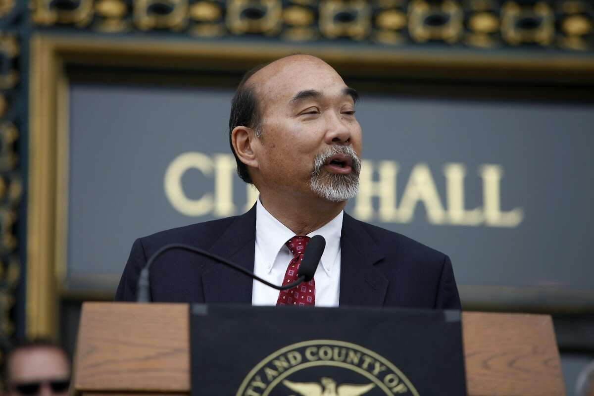 Olson Lee, Head of Mayor's office of Housing, announces the perimeters for a taxpayer-funded loan assistance program aimed at keeping first responders in San Francisco at City Hall in San Francisco, Calif. on July 30, 2013.