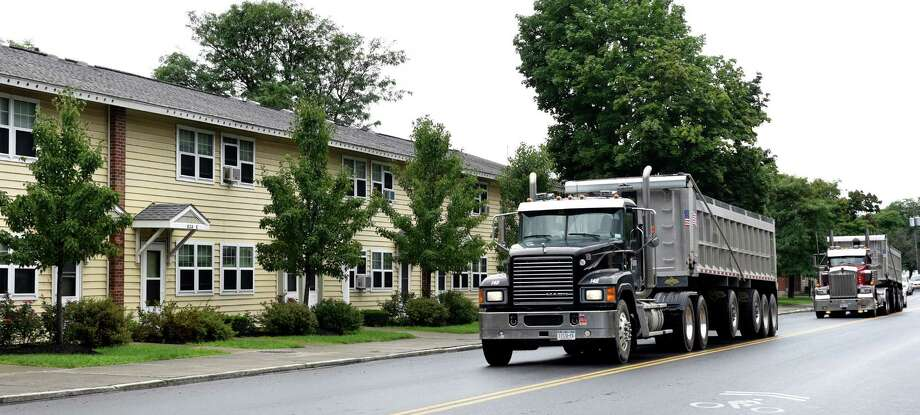 Truck traffic on Tuesday, Aug. 16, 2016, at Ezra Prentice Homes in Albany, N.Y. (Cindy Schultz / Times Union) Photo: Cindy Schultz / Albany Times Union
