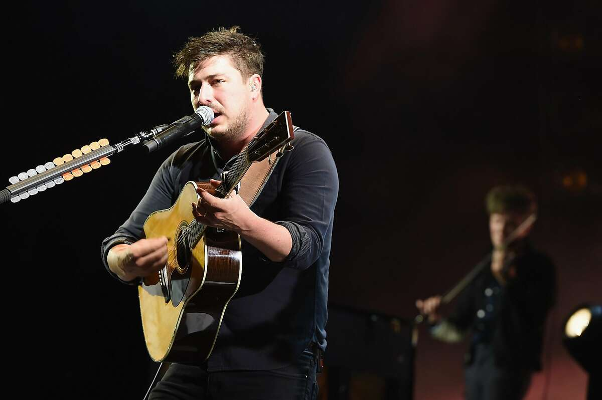 DOVER, DE - JUNE 19: Recording artist Marcus Mumford of Mumford & Sons performs onstage during the Firefly Music Festival on June 19, 2016 in Dover, Delaware. (Photo by Theo Wargo/Getty Images for Firefly)