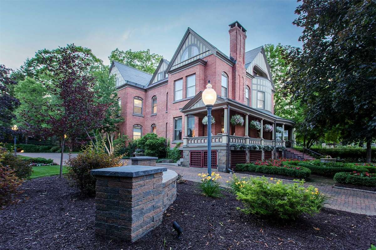 The historic Brackett House on North Broadway in Saratoga Springs. The building is used by Quad/Graphics for clients and executives. Credit Select Sotheby's International Realty