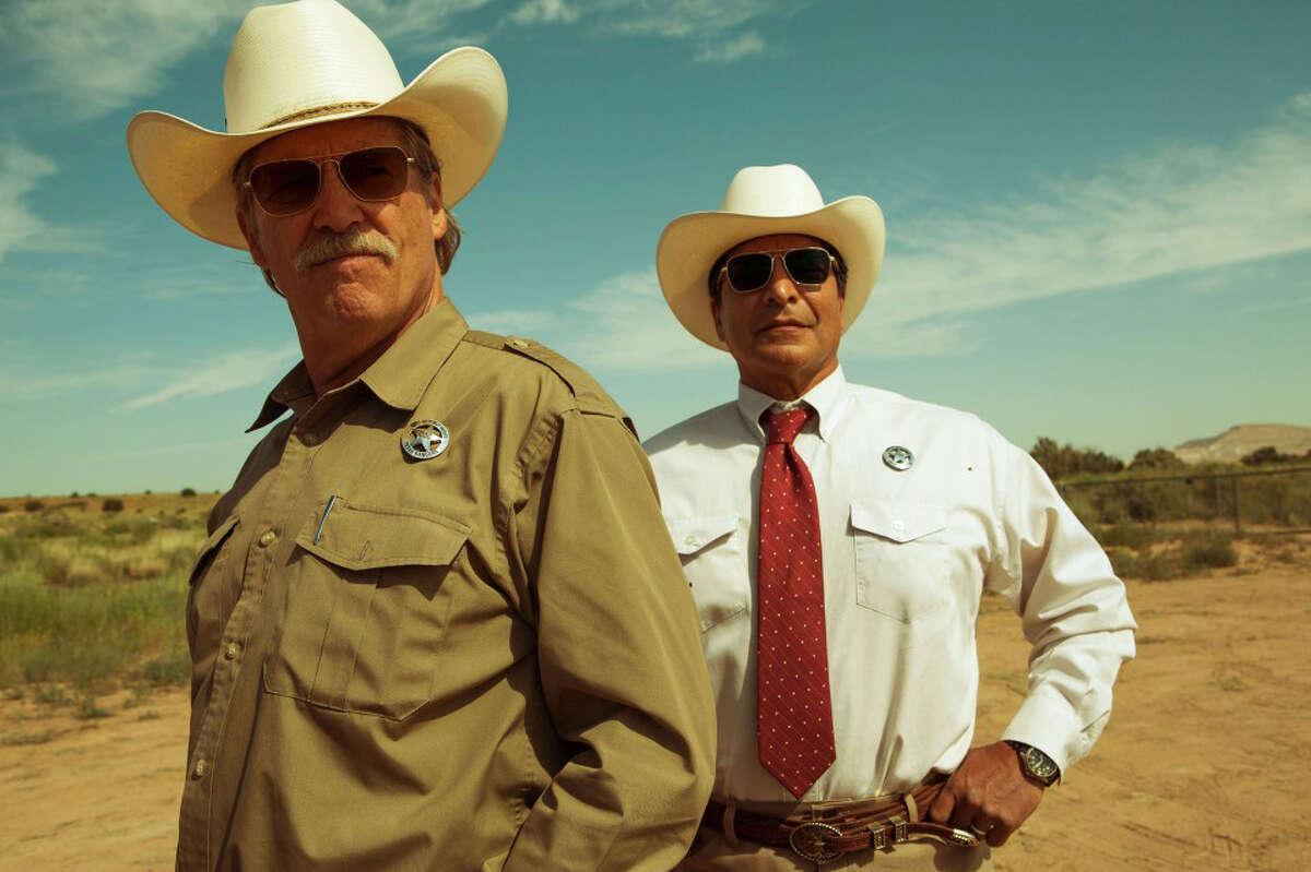 "Jeff Bridges, left, and Gil Birmingham in ""Hell or High Water."" MUST CREDIT: Lorey Sebastian, CBS Films"