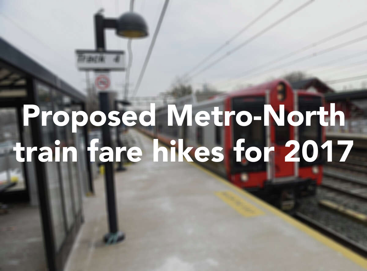 Effective December 1, 2016, these are the new train fare hikes proposed by Metro-North that will affect southwestern Connecticut commuters.