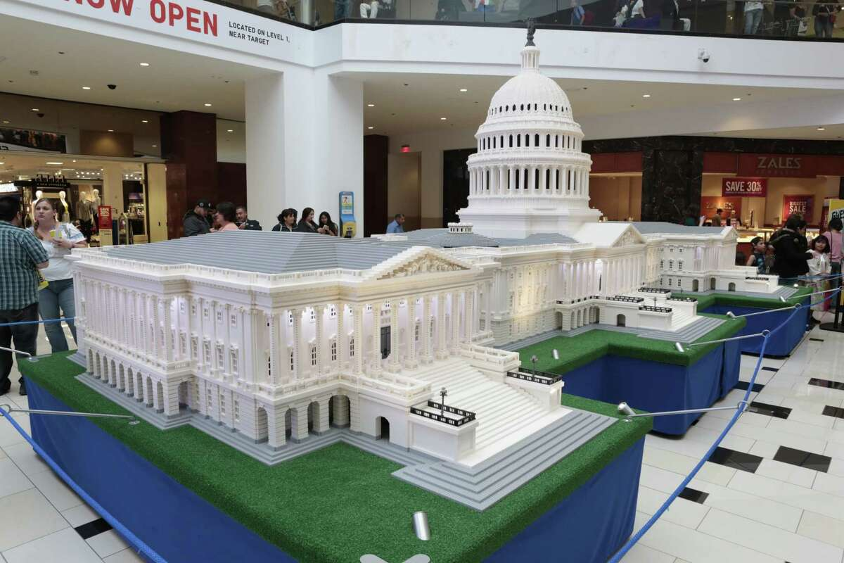 The Lego U.S. Capitol Building for the Lego Americana Roadshow, which exhibits at North Star Mall Saturday, Aug. 20, through Sept. 5, 2016.