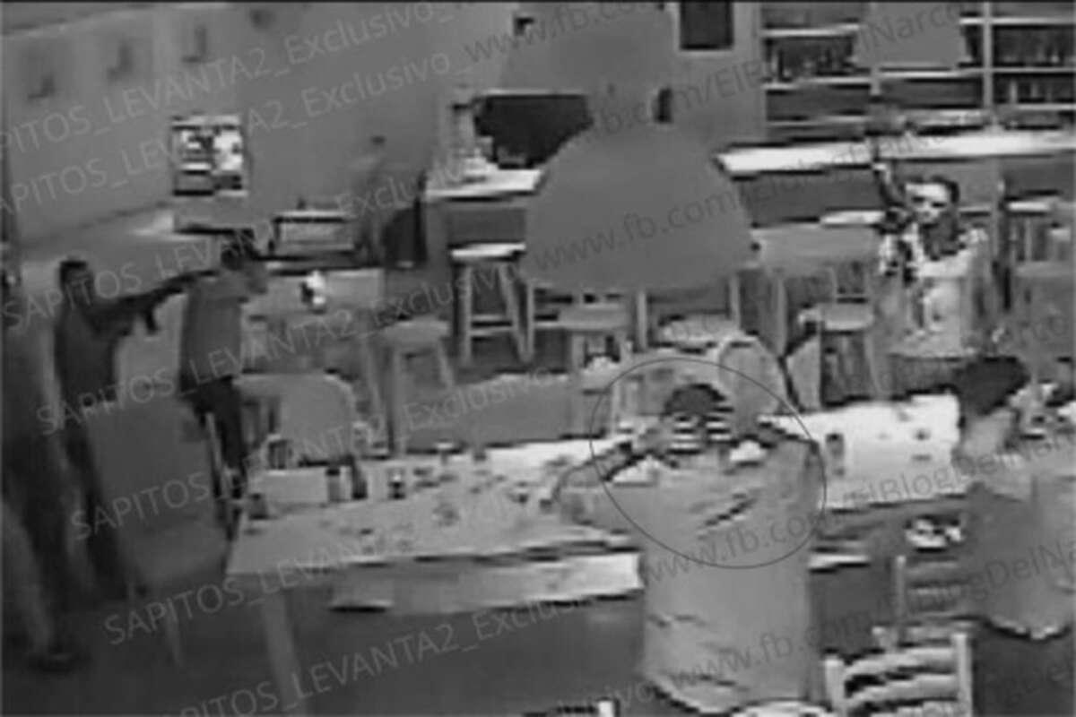 "Surveillance camera stills posted by Blog del Narco on Wednesday, August 17, 2016, purportedly show the armed abduction of Jesus Alfredo Guzman Salazar, the son of Sinaloa Cartel kingpin Joaquin ""El Chapo"" Guzman."