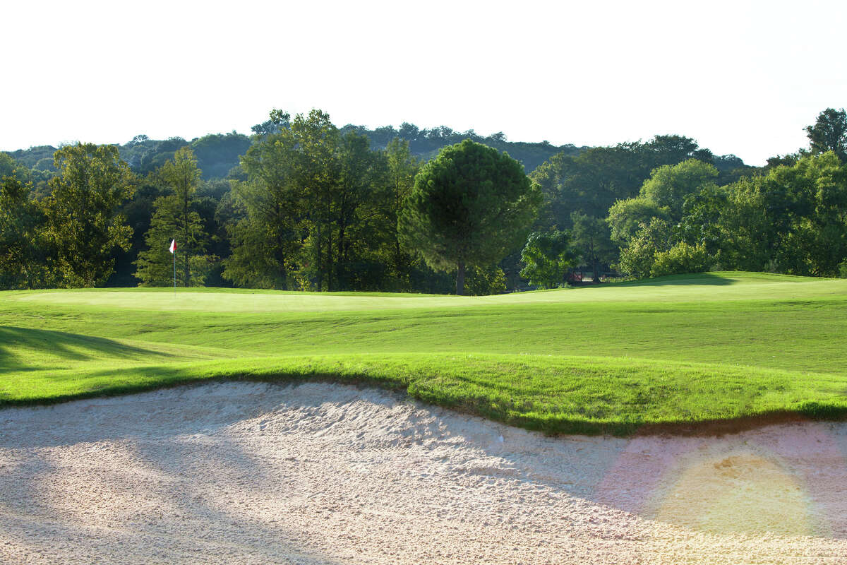 Enjoy picturesque views, like this one, looking at #1 green. CLICK HERE to book your tee time.