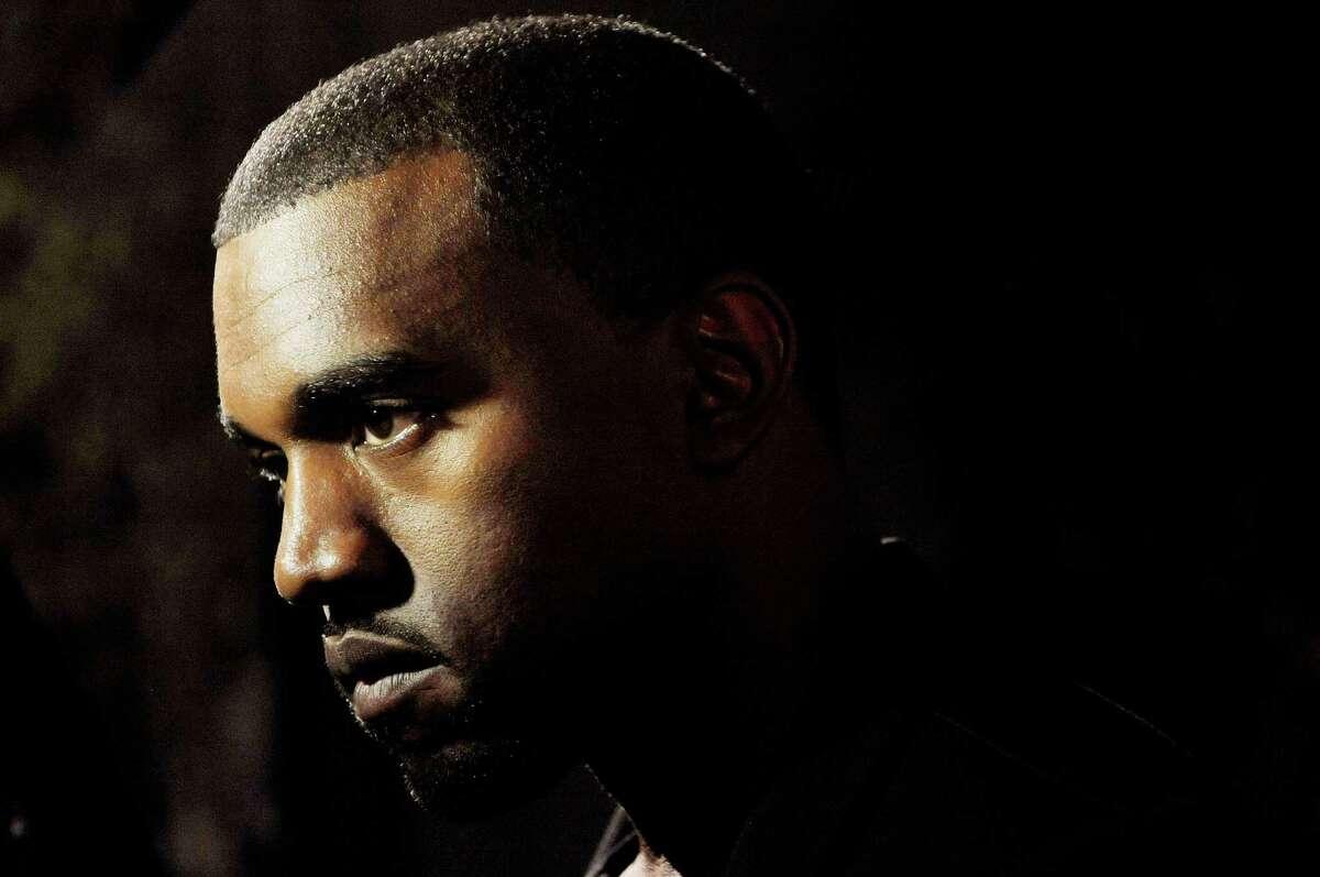 """Hip-hop artist Kanye West is pictured before a screening of """"Runaway,"""" a short film he directed."""