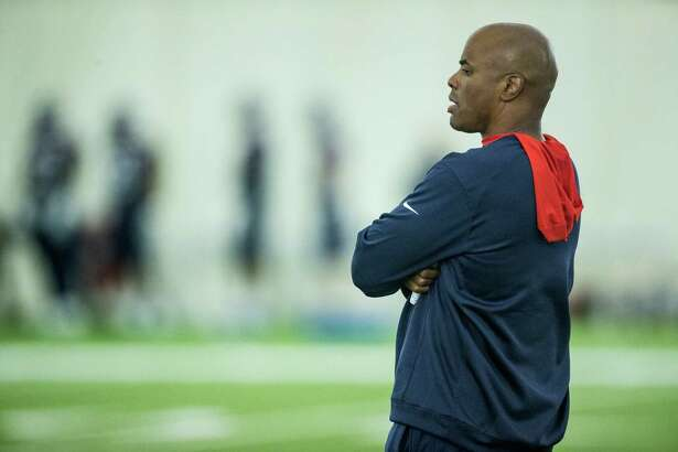 Houston Texans general manager Rick Smith watches practicd during Texans training camp at Houston Methodist Training Center on Wednesday, Aug. 17, 2016, in Houston.