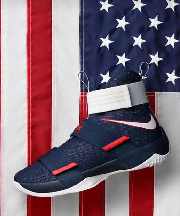 info for 2926d c1b8b This photo provided by Nike shows the LeBron Zoom Soldier 10 National  Pride. While the