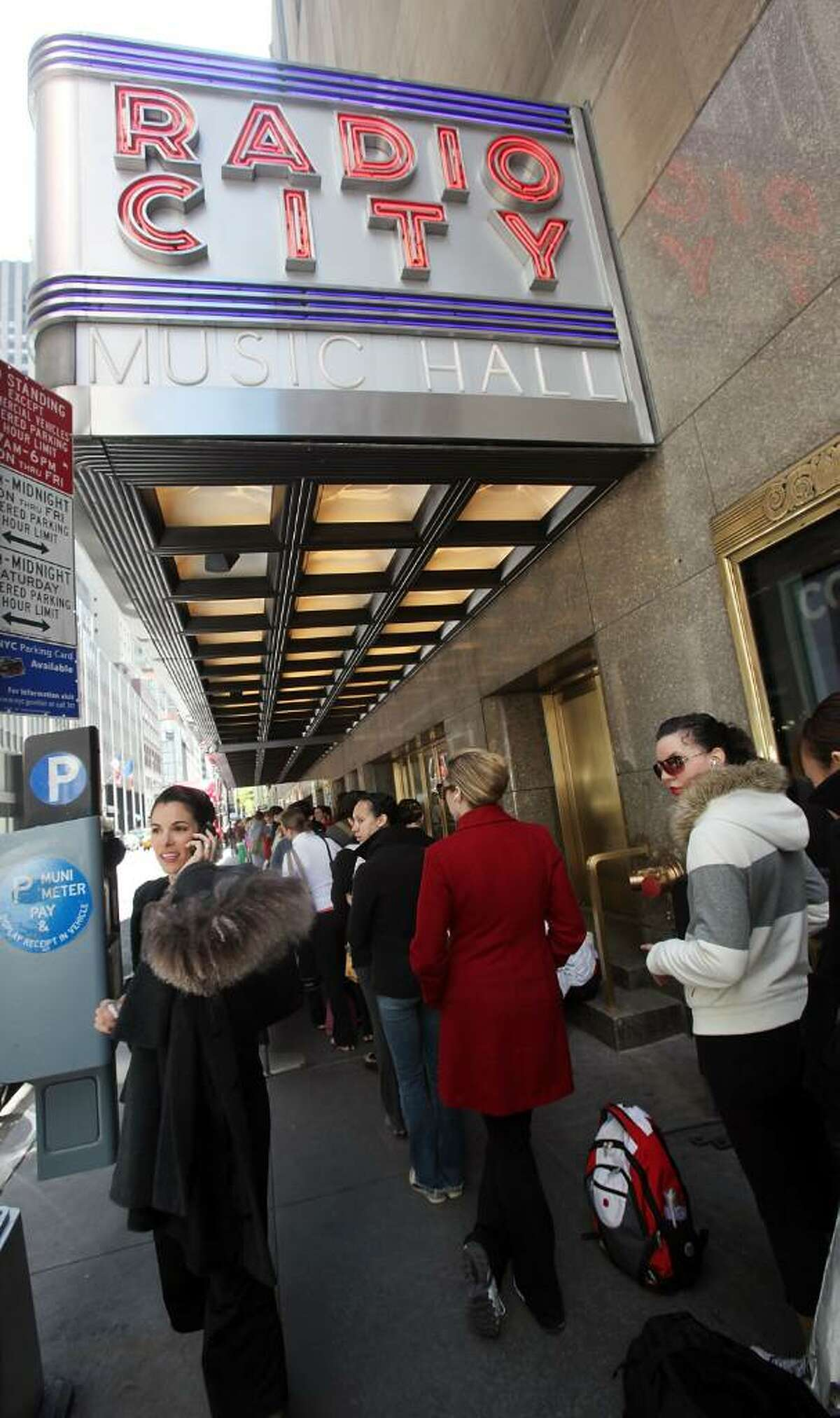 NEW YORK - APRIL 29: Aspiring dancers wait in line to audition for a coveted position as a Radio City Rockette April 29, 2010 in New York City. Hundreds of females waited in line for the chance to perform in the 2010 production of the Radio City Music Spectacular. (Photo by Mario Tama/Getty Images)