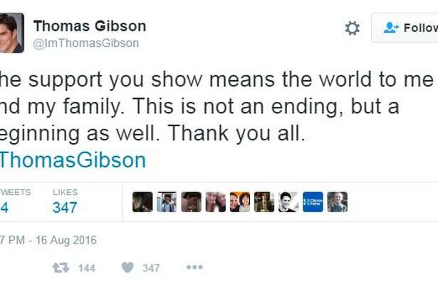 """Aug. 12, 2016 (afternoon): Gibson addresses his newfound unemployment.  """"I love 'Criminal Minds' and have put my heart and soul into it for the last twelve years,"""" he says in a statement given to TheWrap. """"I had hoped to see it through to the end, but that won't be possible now. I would just like to say thank you to the writers, producers, actors, our amazing crew, and, most importantly, the best fans that a show could ever hope to have."""""""