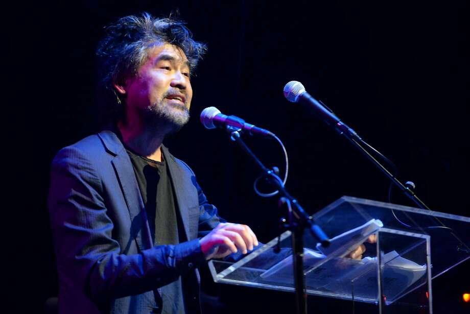 David Henry Hwang speaks onstage at the 61st Annual Obie Awards at Webster Hall in New York City.  Photo: Mike Pont, Getty Images For American Theater Wing