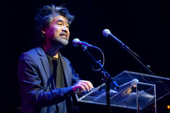 NEW YORK, NY - MAY 23:  David Henry Hwang speaks onstage at the 61st Annual Obie Awards at Webster Hall on May 23, 2016 in New York City.  (Photo by Mike Pont/Getty Images for American Theater Wing)