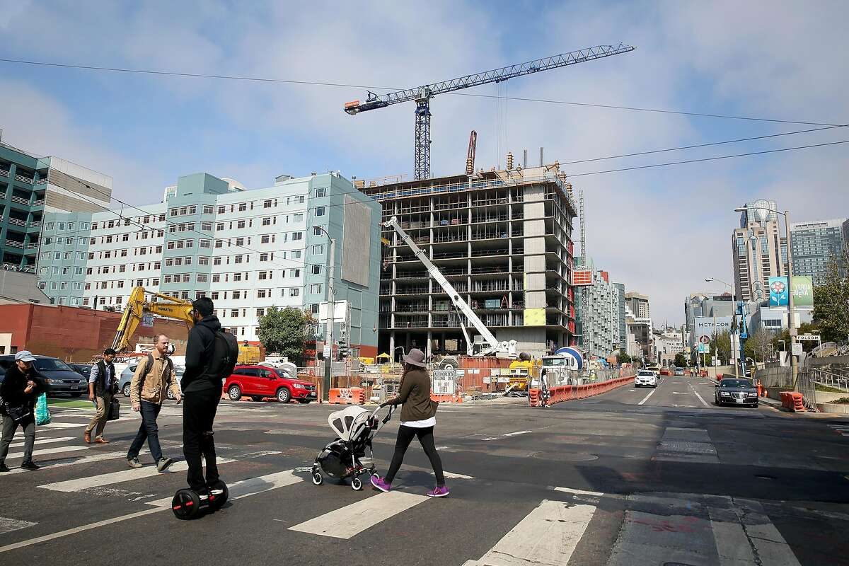 Central Subway construction on Fourth at Folsom streets on Wednesday, August 17, 2016, in San Francisco, Calif. City transportation and planning officials look at where the city's next subways should be built.